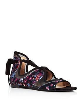 COACH - x Tabitha Simmons Women's Liza Velvet Sandals