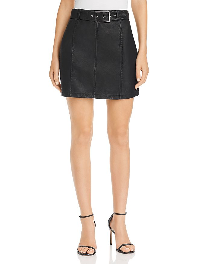 Jack by BB DAKOTA - So Edgy Faux Leather Mini Skirt