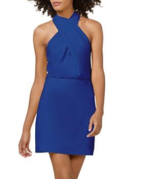 HALSTON - Crepe Mini Dress
