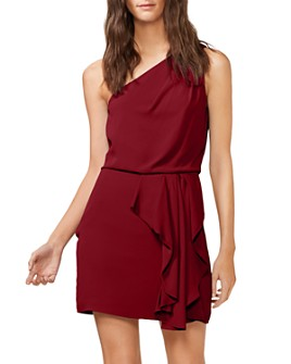 HALSTON - One-Shoulder Ruffled Dress - 100% Exclusive