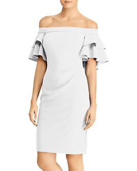 Ralph Lauren - Tiered Capelet Off-the-Shoulder Dress