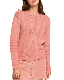 Roxy - Cable-Knit Side-Zip Sweater