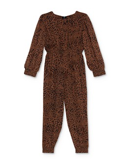 Bardot Junior - Girls' Sylvia Leopard Print Jumpsuit - Little Kid, Big Kid