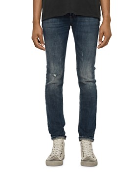 ALLSAINTS - Cigarette Damaged Skinny Fit Jeans in Indigo