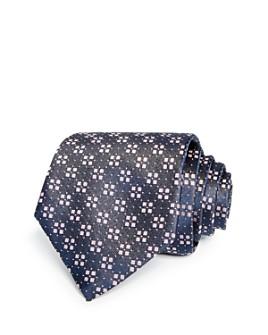 HUGO - Square Florette Micro Dot Neat Silk Skinny Tie