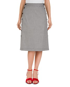 Gerard Darel - Tessa Button-Detail Midi Skirt