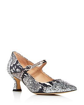 COACH - x Tabitha Simmons Women's Edith Snake-Embossed Mary Jane Pumps