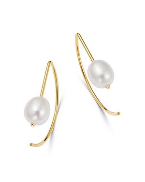 Bloomingdale's Cultured Freshwater Pearl Threader Earrings in 14K Yellow Gold - 100% Exclusive