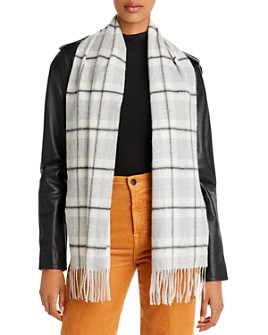 C by Bloomingdale's - Check Cashmere Scarf - 100% Exclusive