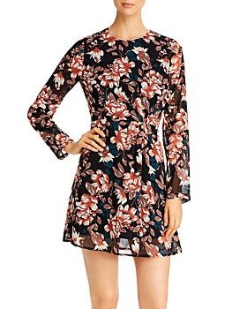 Vero Moda - Wilma Floral Long Sleeve Short Dress