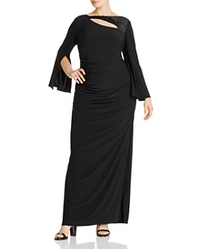 Adrianna Papell Plus - Embellished Cutout Gown