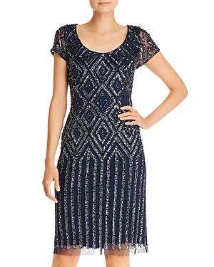 Vintage 1920s Dresses – Where to Buy Adrianna Papell Beaded Sheath Dress AUD 183.15 AT vintagedancer.com