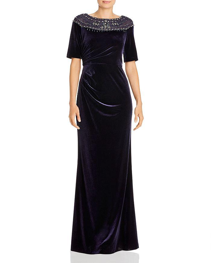 Adrianna Papell - Velvet Beaded Gown