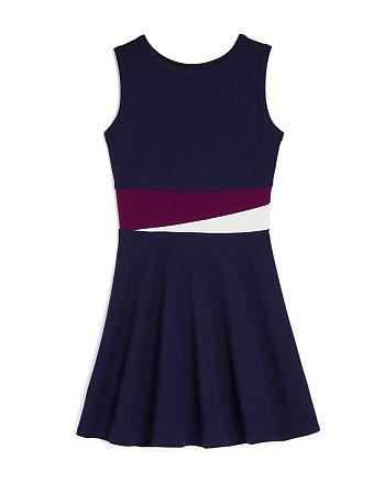 AQUA - Girls' Color-Block Paneled Dress, Big Kid - 100% Exclusive