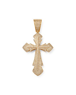 Bloomingdale's - Men's Pavé Diamond Cross Pendant in 14K Yellow Gold, 0.75 ct. t.w. - 100% Exclusive