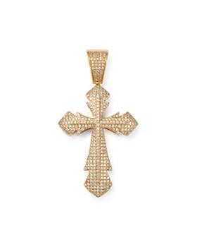 Bloomingdale's - Men's Pavé Diamond Cross Pendant in 14K Yellow Gold, 0.75 ct. t.w. - 100% Exclusive