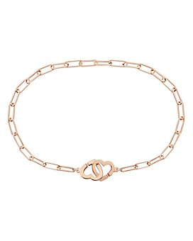 Dinh Van - 18K Rose Gold Double Coeur Chain Bracelet