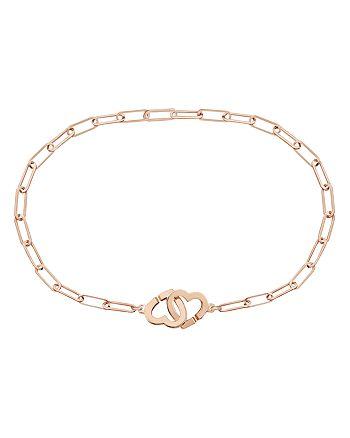 Dinh Van - 18K Rose Gold Double Coeur Chain Bracelet
