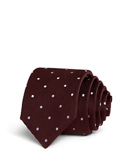 BOSS - Textured-Dot Silk Classic Tie
