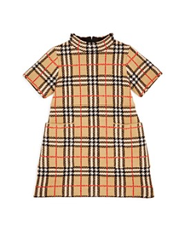 Burberry - Girls' Denise Vintage Check Wool Dress - Little Kid, Big Kid