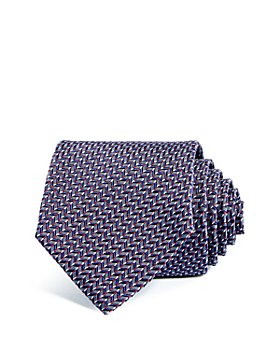 Armani - Chevron Grid Silk Wide Tie
