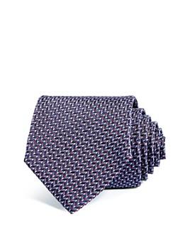 Armani - Chevron Grid Silk Wide Tie