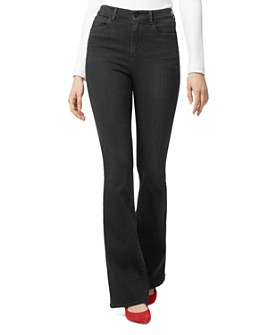 Sanctuary - High-Rise Contour Flared Jeans in Nighthawk