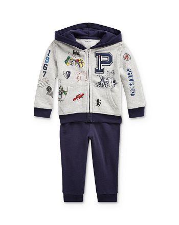 Ralph Lauren - Boys' Varsity Patch Hoodie & Jogger Pants Set - Baby