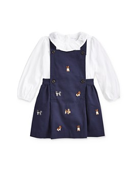 Ralph Lauren - Girls' Pinafore Dress & Ruffled Top Set - Baby