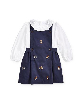 Ralph Lauren - Girls' Pinafore Dress & Ruffled Top Set - Baby