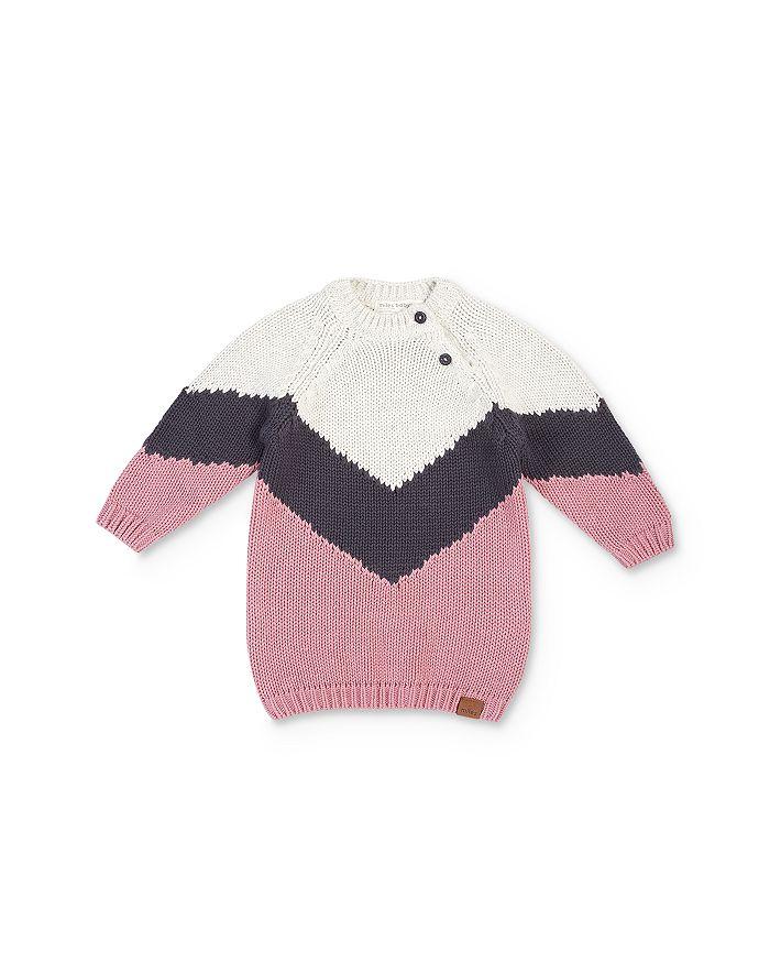 Miles Child - Girls' Color-Block Sweater Dress - Little Kid