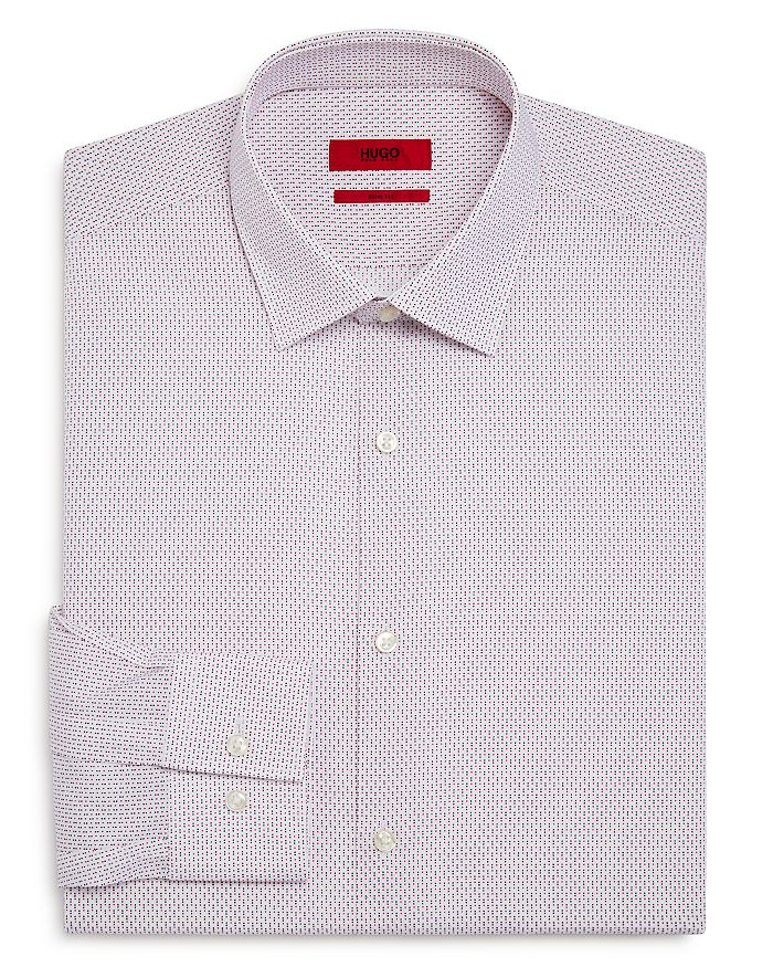 HUGO - Dot Pattern Slim Fit Dress Shirt