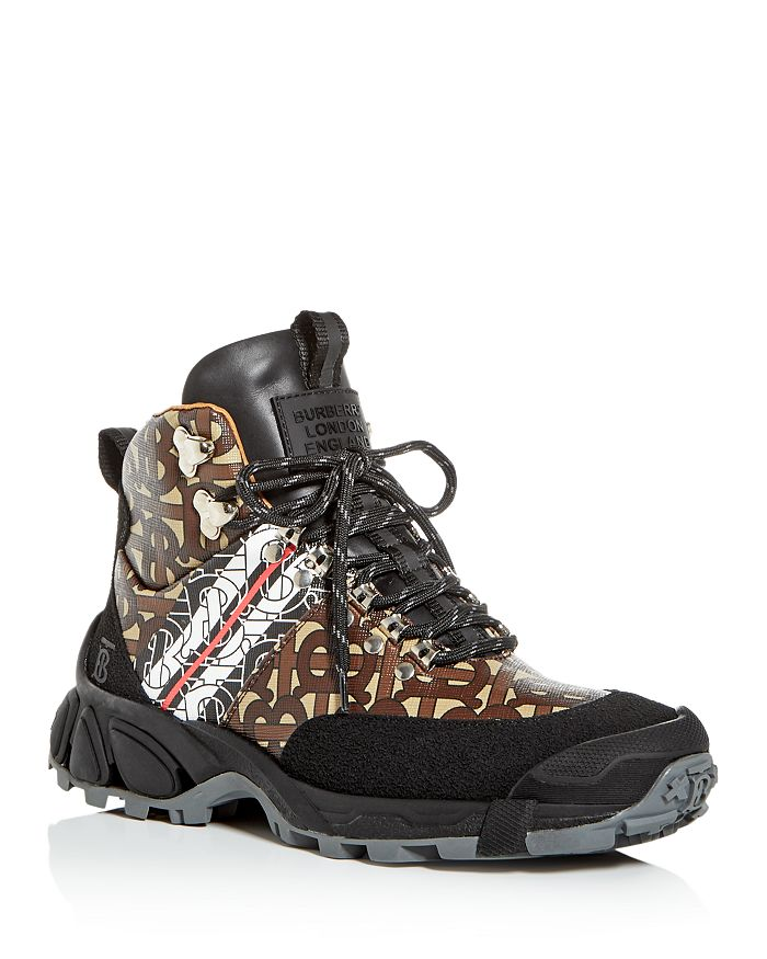 Burberry - Women's Mixed Logo Hiking Booties