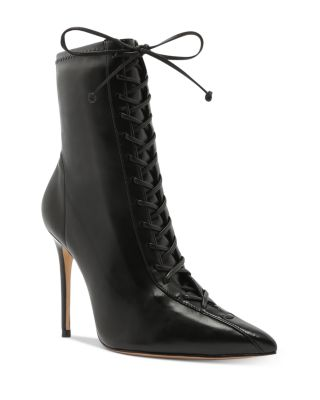 Tennie Lace-Up High-Heel Boots