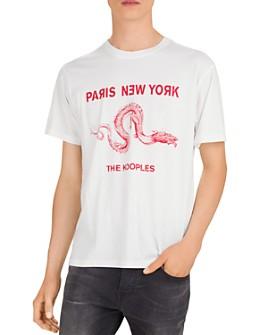 The Kooples - Logo & Dragon Print Crewneck Tee