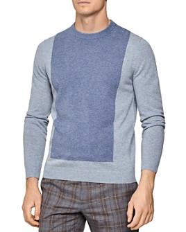 REISS - Cassidy Color-Block Wool & Cashmere Crewneck Sweater