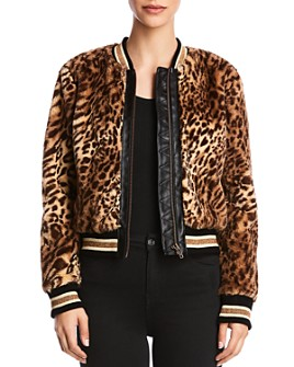 Bailey 44 - Eliza Leopard Print Faux-Fur Bomber Jacket