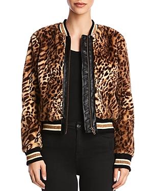 Bailey 44 Eliza Leopard Print Faux-Fur Bomber Jacket