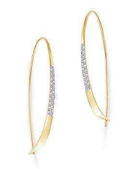 Moon & Meadow - Diamond Threader Earrings in 14K Yellow Gold - 100% Exclusive