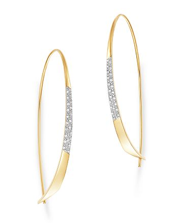Moon & Meadow - Diamond Threader Earrings in 14K Yellow Gold - 100% Exclusive