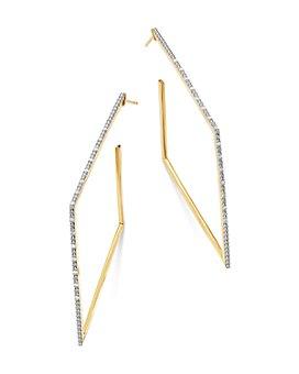 Moon & Meadow - Diamond Square Hoop Earrings in 14K Yellow Gold, 0.15 ct. t.w. - 100% Exclusive