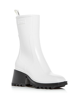 Chloé - Women's Betty Block-Heel Platform Rain Boots