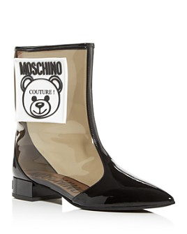 Moschino - Women's Teddy Bear Pointed-Toe Boots
