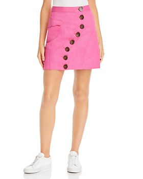 Acler - Tana Asymmetric Button Denim Mini Skirt