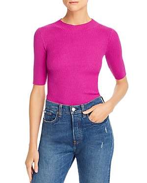 Milly Fiona Wool Ribbed-Knit Top