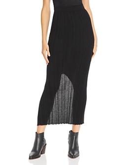 Helmut Lang - Ribbed Bodycon Skirt