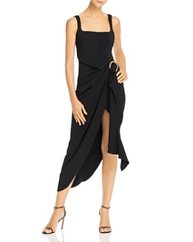 Acler - Maine Draped Midi Dress with Ring Detail