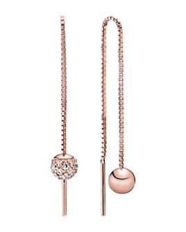 Pandora - Rose Gold Plated & Cubic Zirconia Polished & Pavé Bead Dangle Earrings