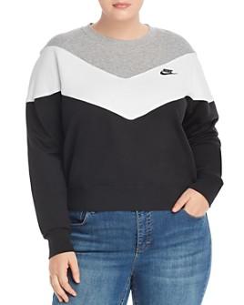 Nike Plus - Chevron Color-Block Sweatshirt