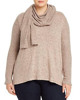 B Collection by Bobeau Curvy - Scarf-Neck Sweater